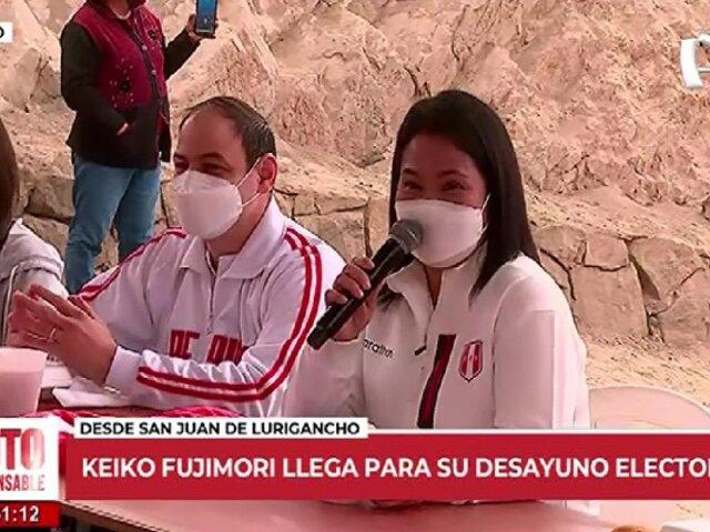 """Keiko Fujimori:""""Será fundamental empezar a trabajar en la unidad desde mañana"""""""