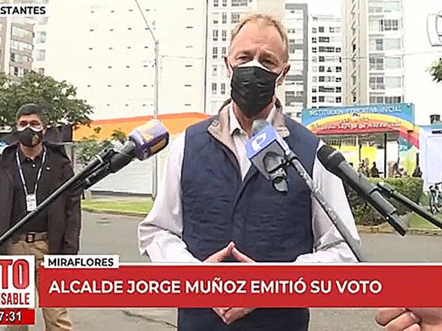 """Jorge Muñoz: """"el siguiente mandatario debe respetar la libertad"""""""