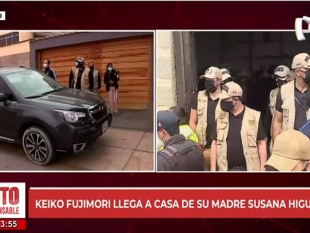 Keiko Fujimori retorna a su casa tras visitar a su madre Susana Higuchi