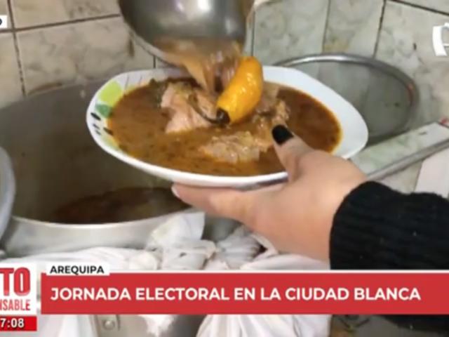 Arequipa: varios acuden al mercado San Camilo para comer su adobo tras votar