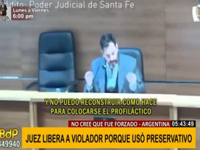 Escándalo en Argentina: Juez deja en libertad a violador porque utilizó preservativo