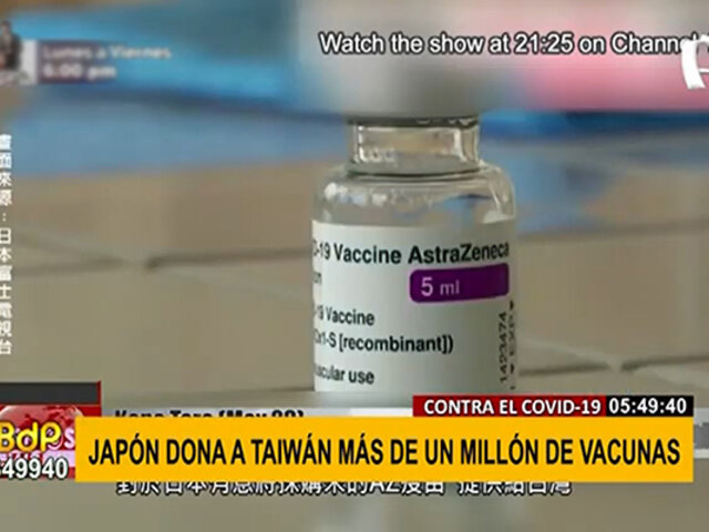 Japón dona más de un millón de vacunas contra el COVID-19 a Taiwán