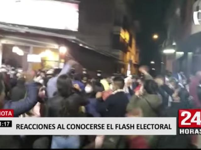 Así fueron las reacciones en el país tras conocerse el flash electoral