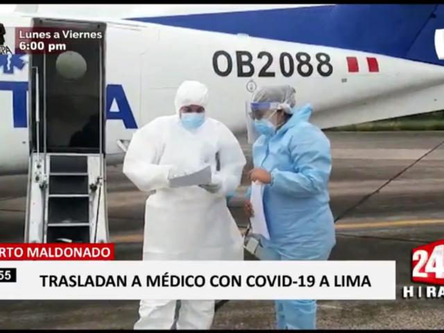 Puerto Maldonado: médico fue trasladado de emergencia a Lima por COVID-19