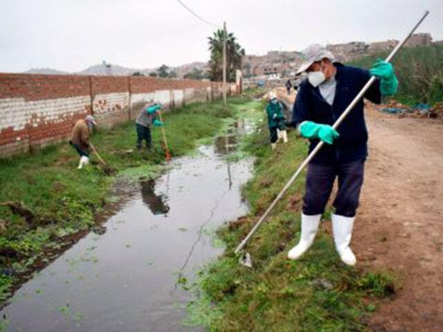 Recogen más de 3 toneladas de residuos sólidos en canales que alimentan a los Pantanos de Villa