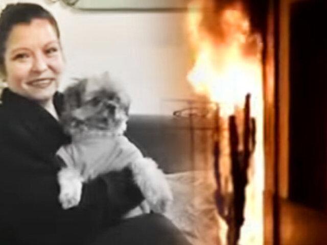 Mujer tiene el 80% de su cuerpo quemado por tratar de rescatar a su mascota de un incendio