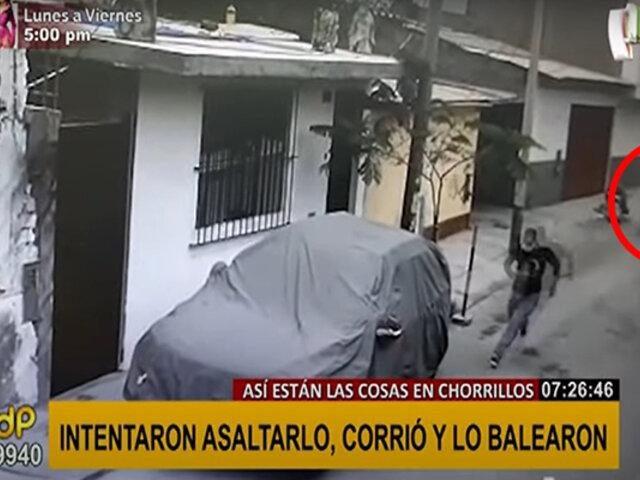 Chorrillos: alarmas colocadas por vecinos salvan de la muerte a víctima de asalto