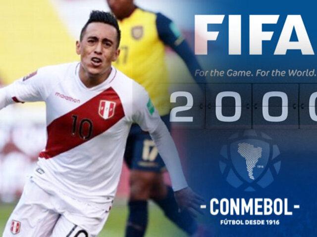 FIFA saluda a Cueva por marcar el gol 2000 en la historia de las Eliminatorias
