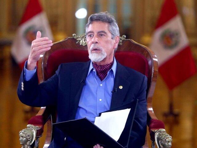 Sagasti expresa su preocupación por reformas constitucionales que se aprobarían de manera 'express'