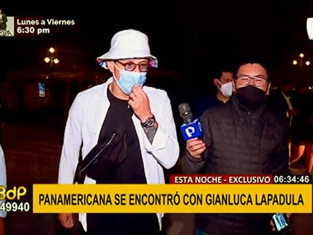 Gianluca Lapadula dio unas palabras para Panamericana Televisión