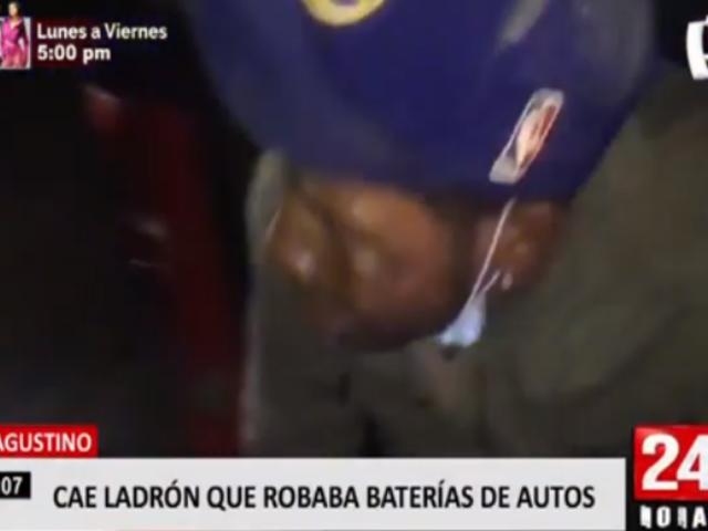 El Agustino: cae ladrón de autopartes con baterías robadas