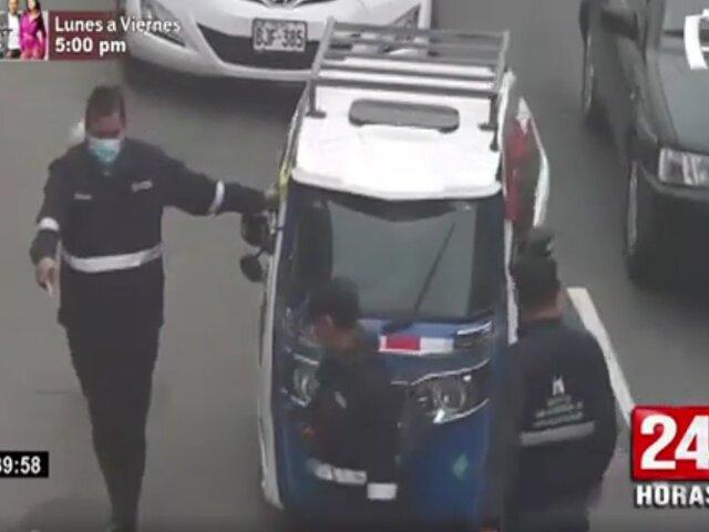 Surco: cae mototaxista informal tras persecusión