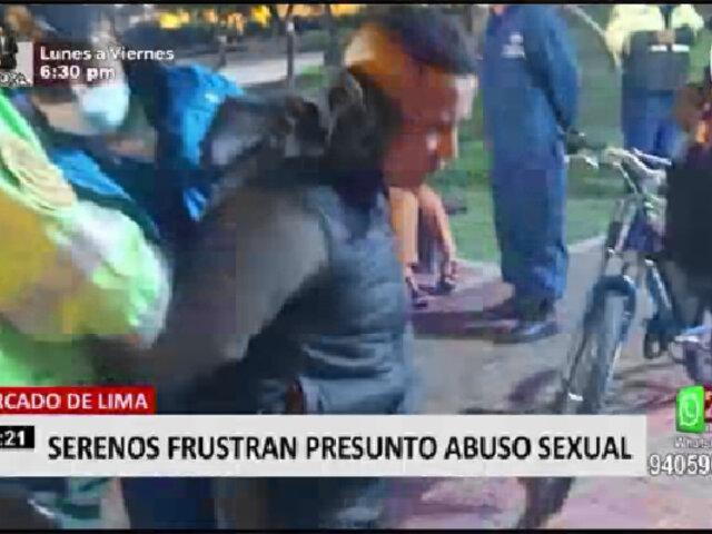 Cercado de Lima: detienen a delincuente que intentó abusar de joven en parque
