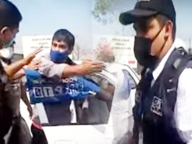 Fiscalizador intenta golpear a taxista durante confuso incidente