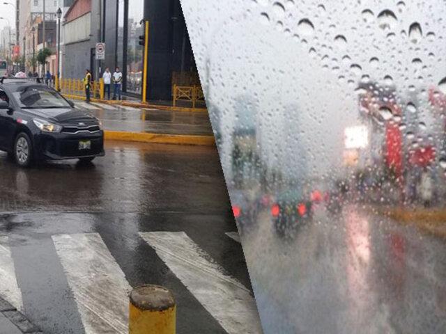 Lima amaneció con lluvia y con bajas temperaturas