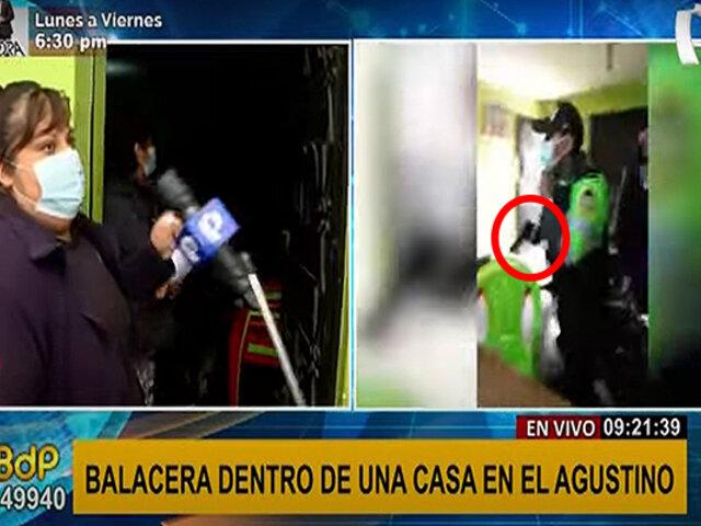 El Agustino: familia denuncia que varios policías dispararon dentro de su vivienda