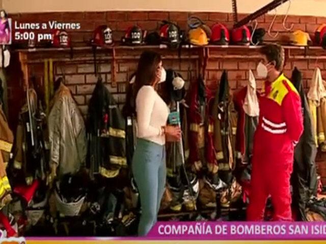Reportera del programa D´Mañana se convierte en bombera por un día