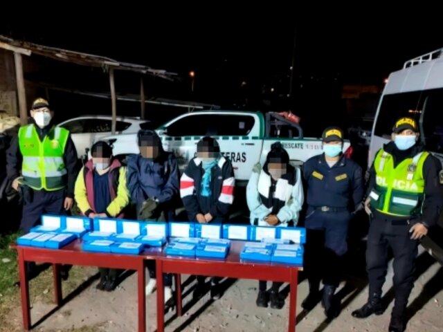 Ayacucho: detienen a bolivianas con más de 50 kilos de droga