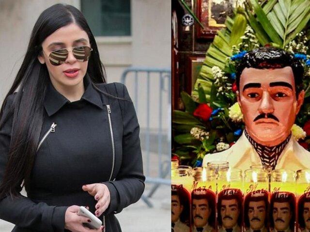 Le rezan al 'Santo Malverde' para que liberen a esposa del 'Chapo Guzmán'