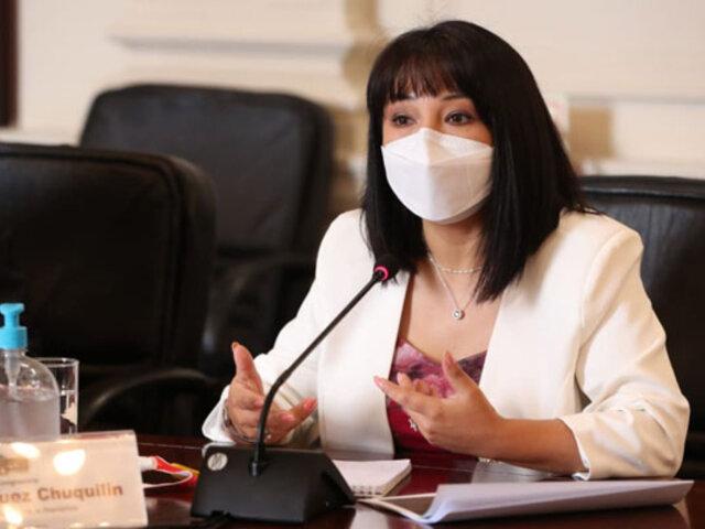 Mirtha Vásquez dejó sin efecto resoluciones de ascensos tras cuestionamientos de sindicatos