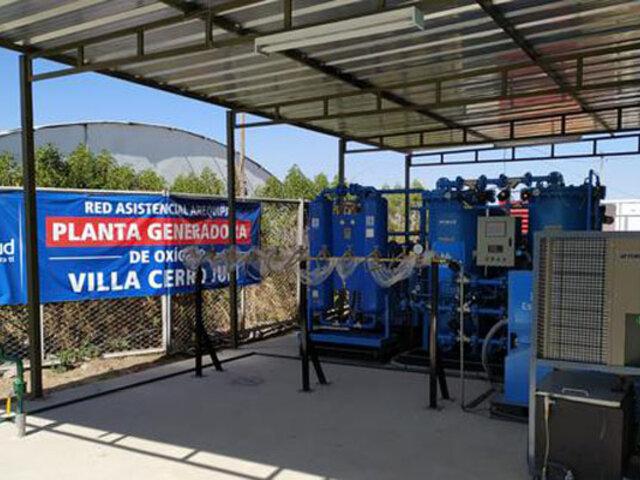 Arequipa: ponen en funcionamiento planta de oxígeno para reforzar lucha contra la Covid-19