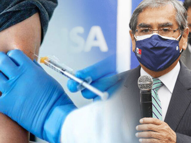 Óscar Ugarte: Vacunación para adultos de 58 y 59 años podría empezar en dos semanas