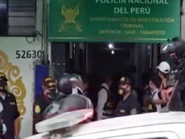 Tarapoto: vecinos intentan agredir a presunto asesino de madre e hija