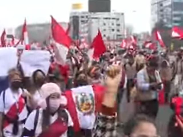 Así fue la marcha convocada por simpatizantes de Fuerza Popular en el Cercado de Lima