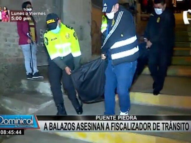 Crimen en Puente Piedra: asesinan a balazos a fiscalizador de tránsito