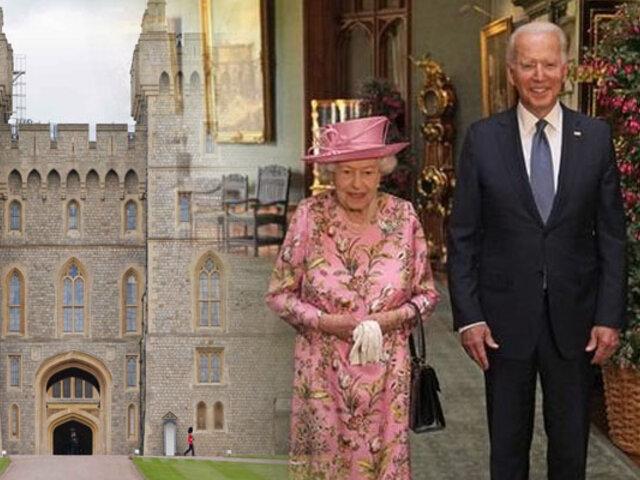 La reina Isabel II recibió a Joe Biden en el castillo de Windsor