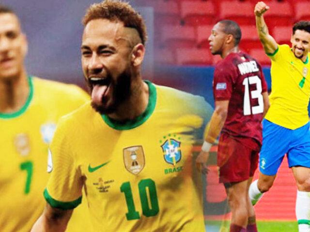 Copa América 2021: Brasil goleó 3-0 a Venezuela en partido inaugural