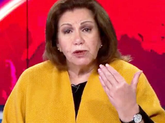 """Lourdes Flores Nano: """"En todas las mesas impugnadas hay una distorsión estadística"""""""