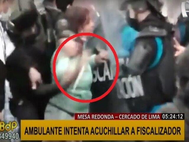 Mesa Redonda: ambulante intentó acuchillar a fiscalizador para evitar desalojo