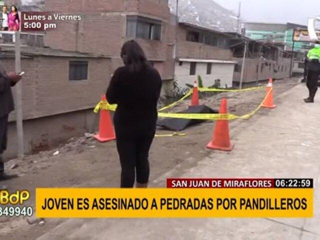 SJM: joven de 18 años fue asesinado a pedradas por grupo de pandilleros