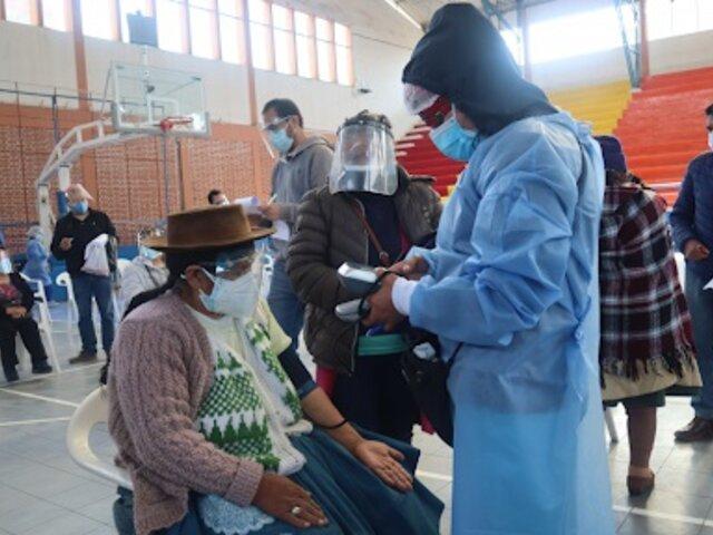 Covid-19: tres distritos de Junín iniciaron vacunación a mayores de 57 años