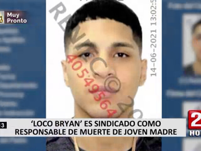 'Loco Bryan' es sindicado como responsable de asesinar a una joven embarazada