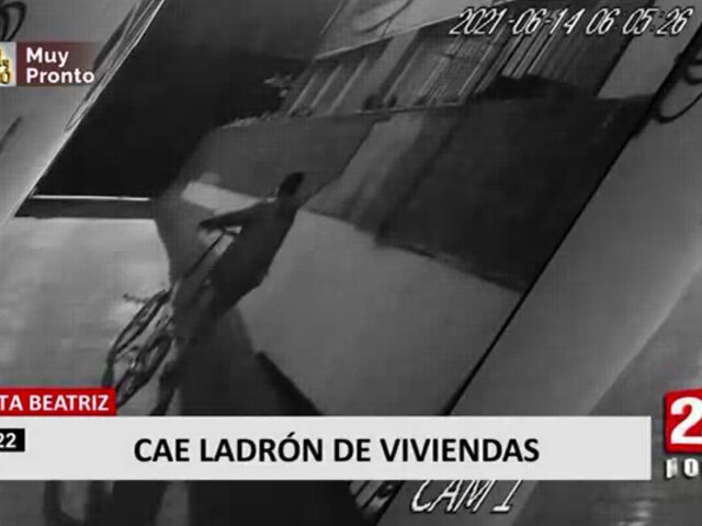 Santa Beatriz: detienen a sujeto que ingresa a robar a viviendas