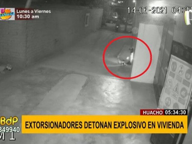 Pánico en Huacho: extorsionadores detonan explosivo en puerta de vivienda