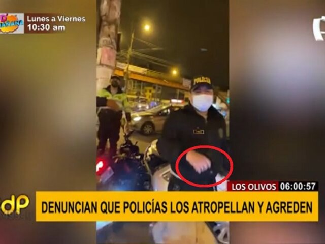 Los Olivos: denuncian que policía atropelló y agredió a motociclista