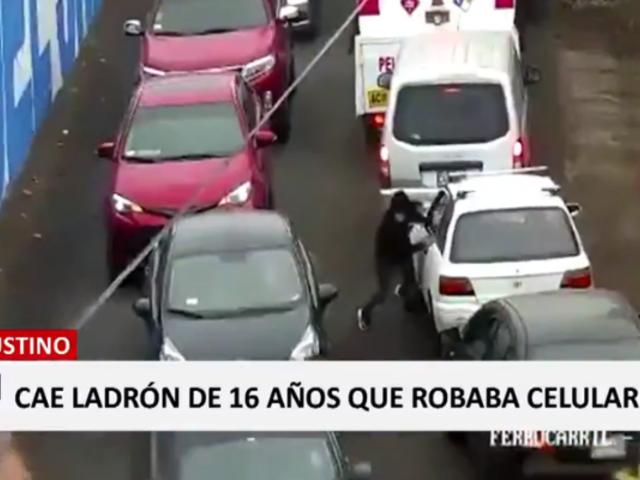 El Agustino: adolescente aprovechaba tráfico para robar