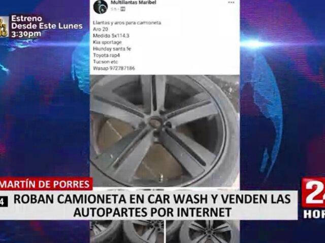 SMP: roban camioneta en carwash y venden las autopartes por redes sociales