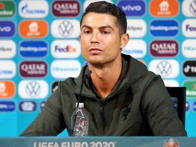 Un simple gesto de Cristiano Ronaldo hace perder casi 4 mil millones a Coca-Cola