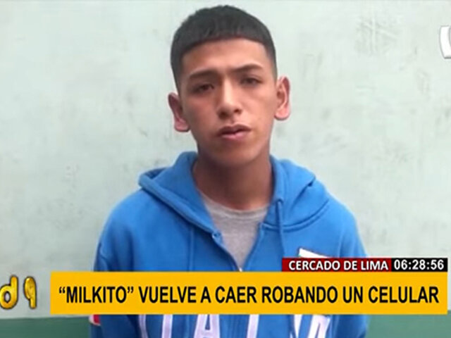 "Ternas vuelven a detener a ""Milkito"" cuando arrebató un celular a mujer"