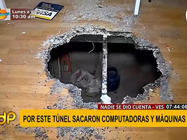 VES: así actuaron delincuentes para abrir un forado y robar costosas maquinarias