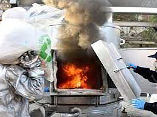 Cifra récord: queman más de 33 toneladas de droga
