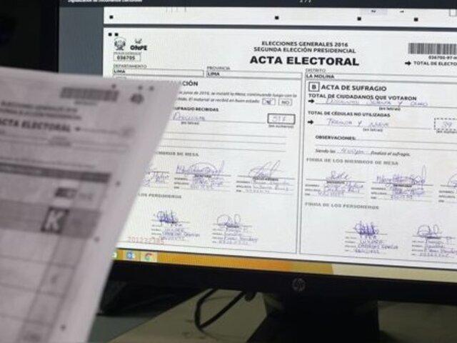 Jurado Nacional de Elecciones resolvió apelación de 10 actas observadas en audiencia pública
