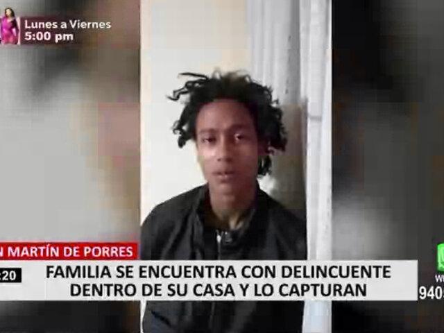 Familia denuncia que ladrón que ingresó a su vivienda siempre es liberado