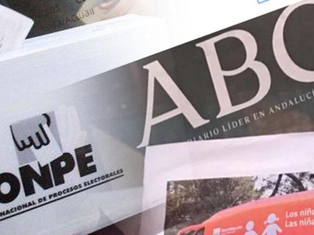 """Diario ABC de España: """"Existe el peligro de fraude en el Perú"""""""