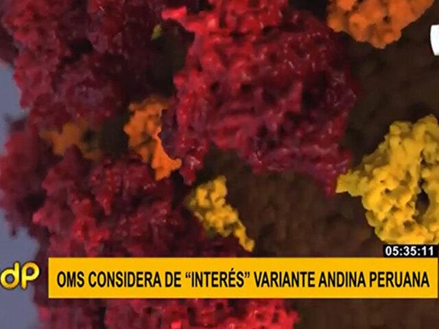 """OMS califica """"de interés"""" a la variante andina"""