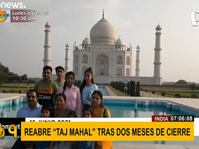 India reabrió el Taj Mahal tras dos meses de cierre por la COVID-19